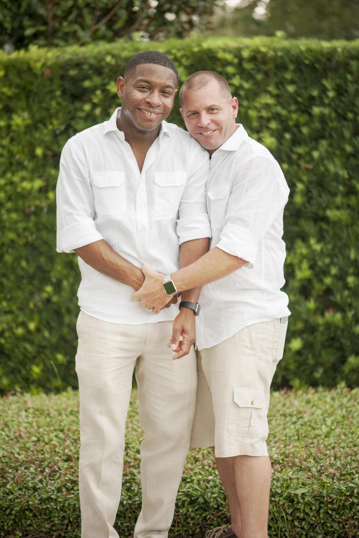 The Canovas Photography Florida grooms in garden