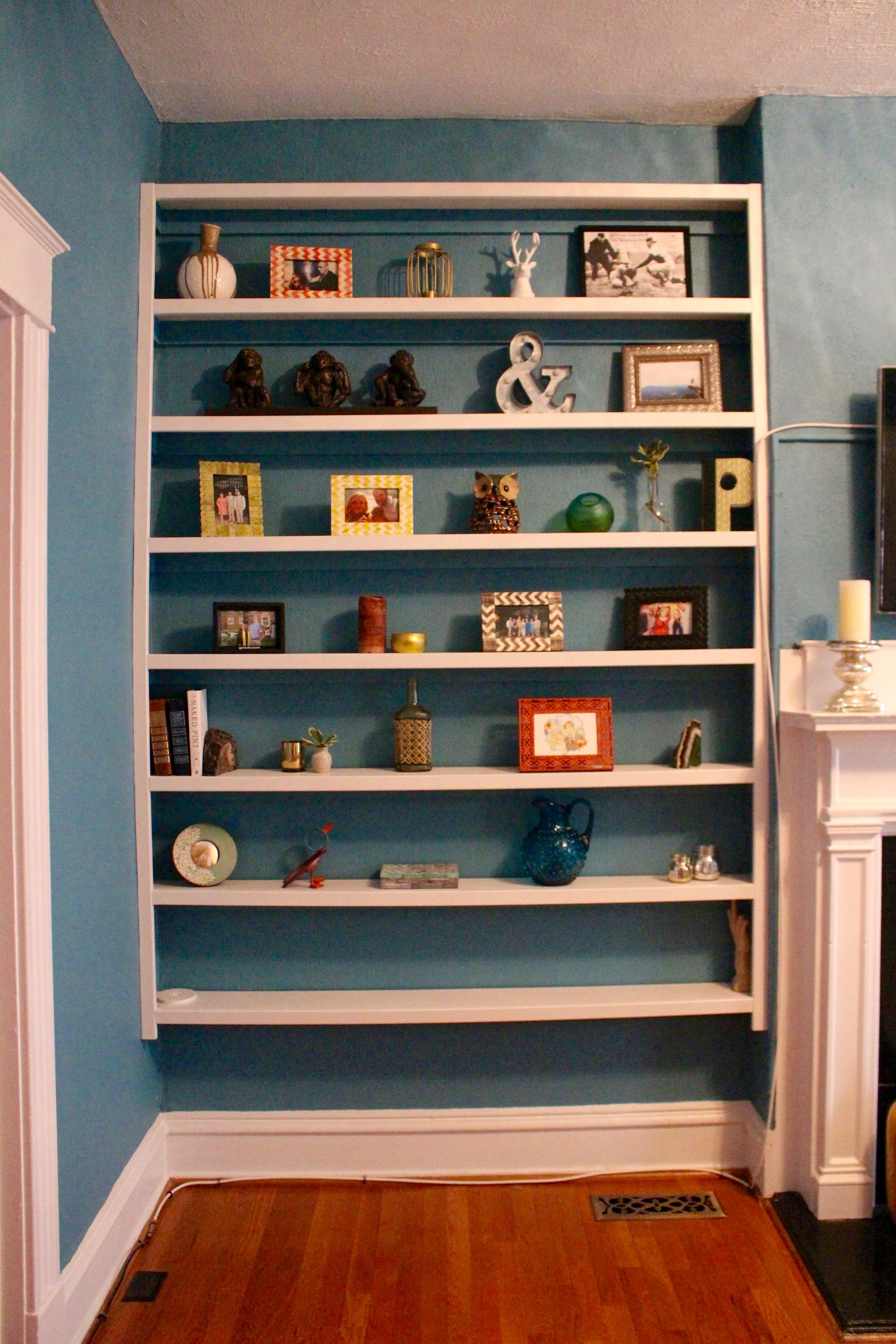 Freebird Imagery plywood repainted for bookshelf