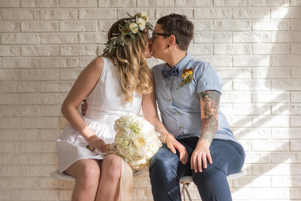 Buffy Goodman Wedding Photography kiss