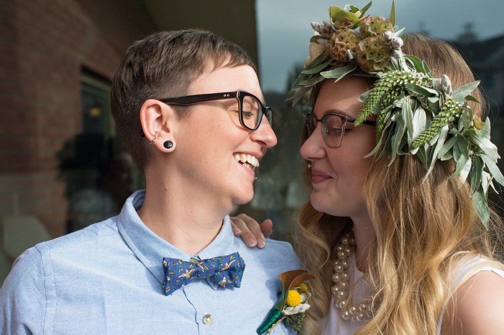 Buffy Goodman Wedding Photography couple gazes at one another