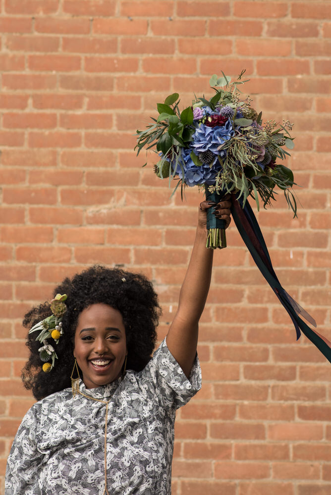 Buffy Goodman Wedding Photography bride holding up bouquet
