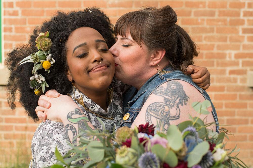 Buffy Goodman Wedding Photography kiss on cheek