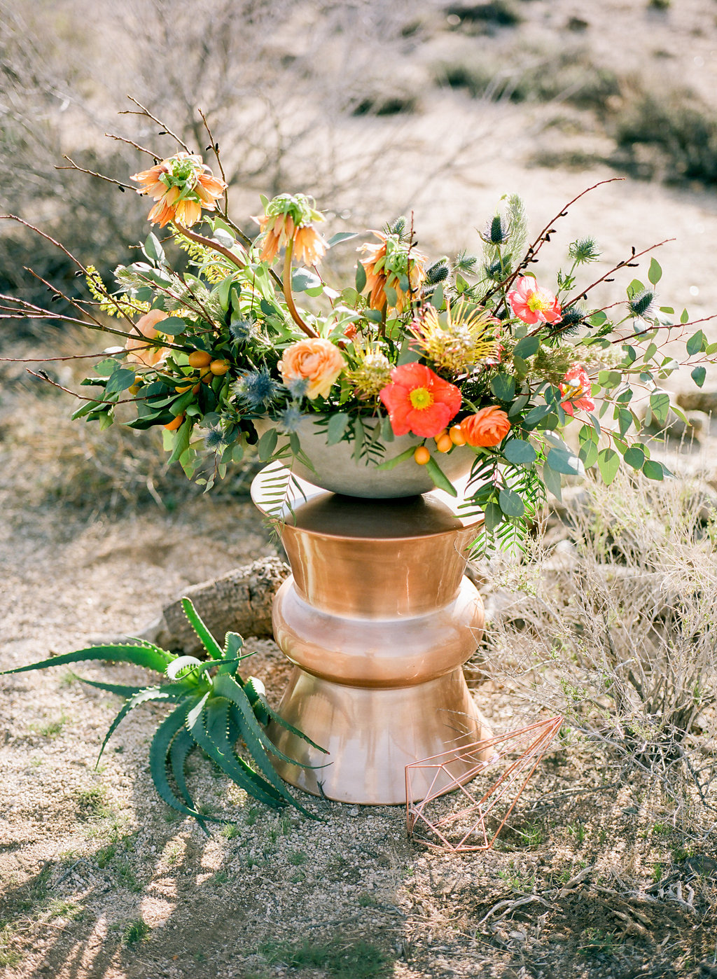 Jessica Schilling Wedding Photography bowl of flowers on pedestal