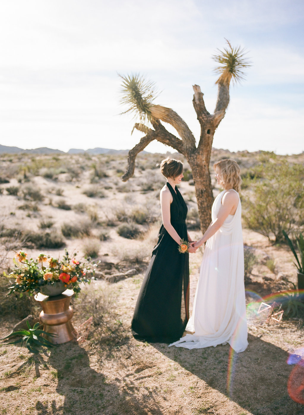 Jessica schilling wedding photography couple clasping hands in front of tree