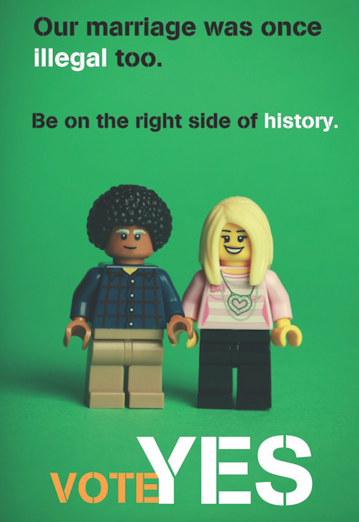 Our marriage was once illegal too. Be on the right side of history.