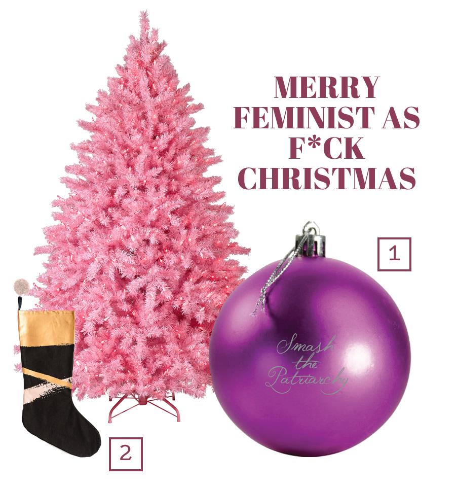 Merry Feminist as Fuck Christmas by Get Bullish