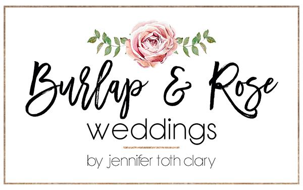 Burlap & Rose Weddings by Jennifer Toth Clary