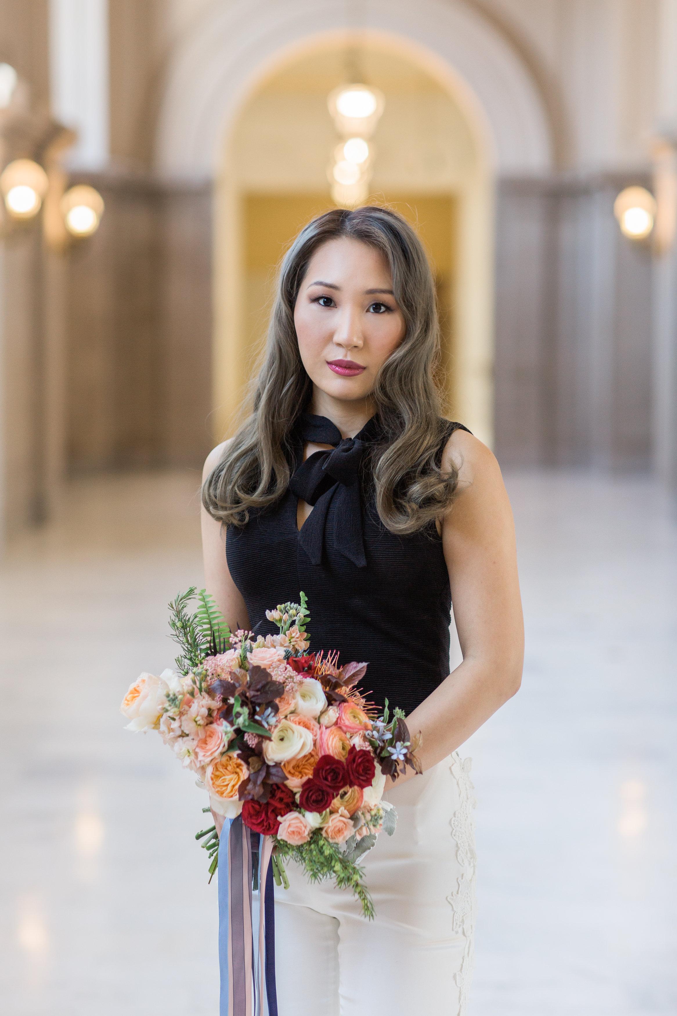 San Francisco City Hall Lesbian LGBTQ Elopement Styled Wedding Shoot by Buena Lane Photography
