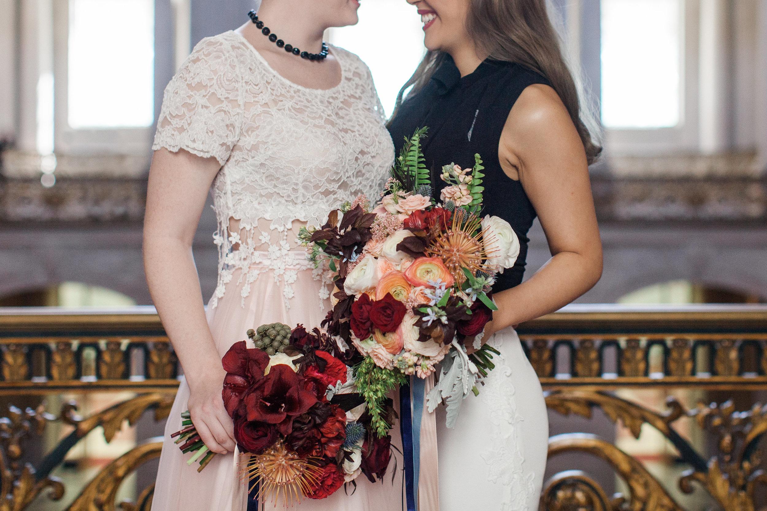 San Francisco City Hall Lesbian LGBTQ Elopement Styled Shoot by Buena Lane Photography