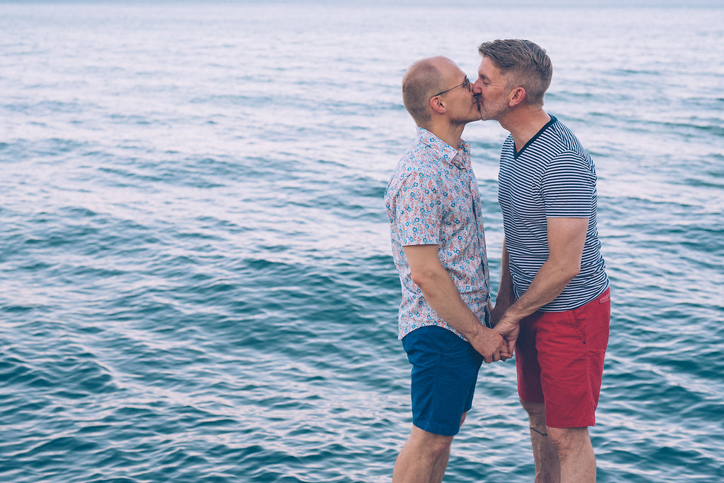 Wedding Engagement Shoot LGBTQ Hollywood Beach Chicago Illinois