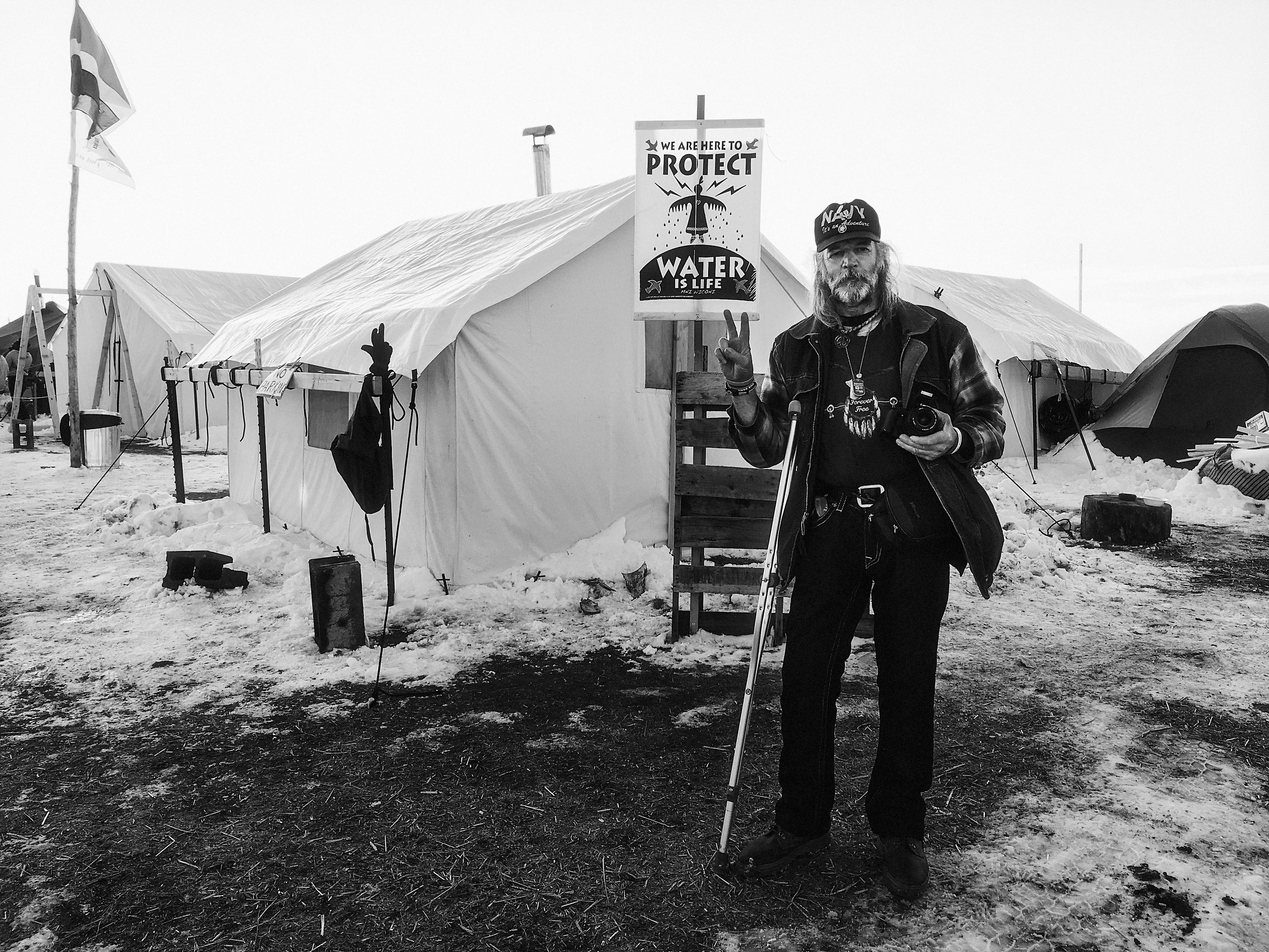 Standing Rock protest of DAPL with photos by Ash Carr