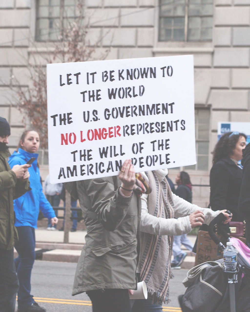 Women's March on Washington DC - Let it be known to the world the US Government no longer represents the will of the American people.