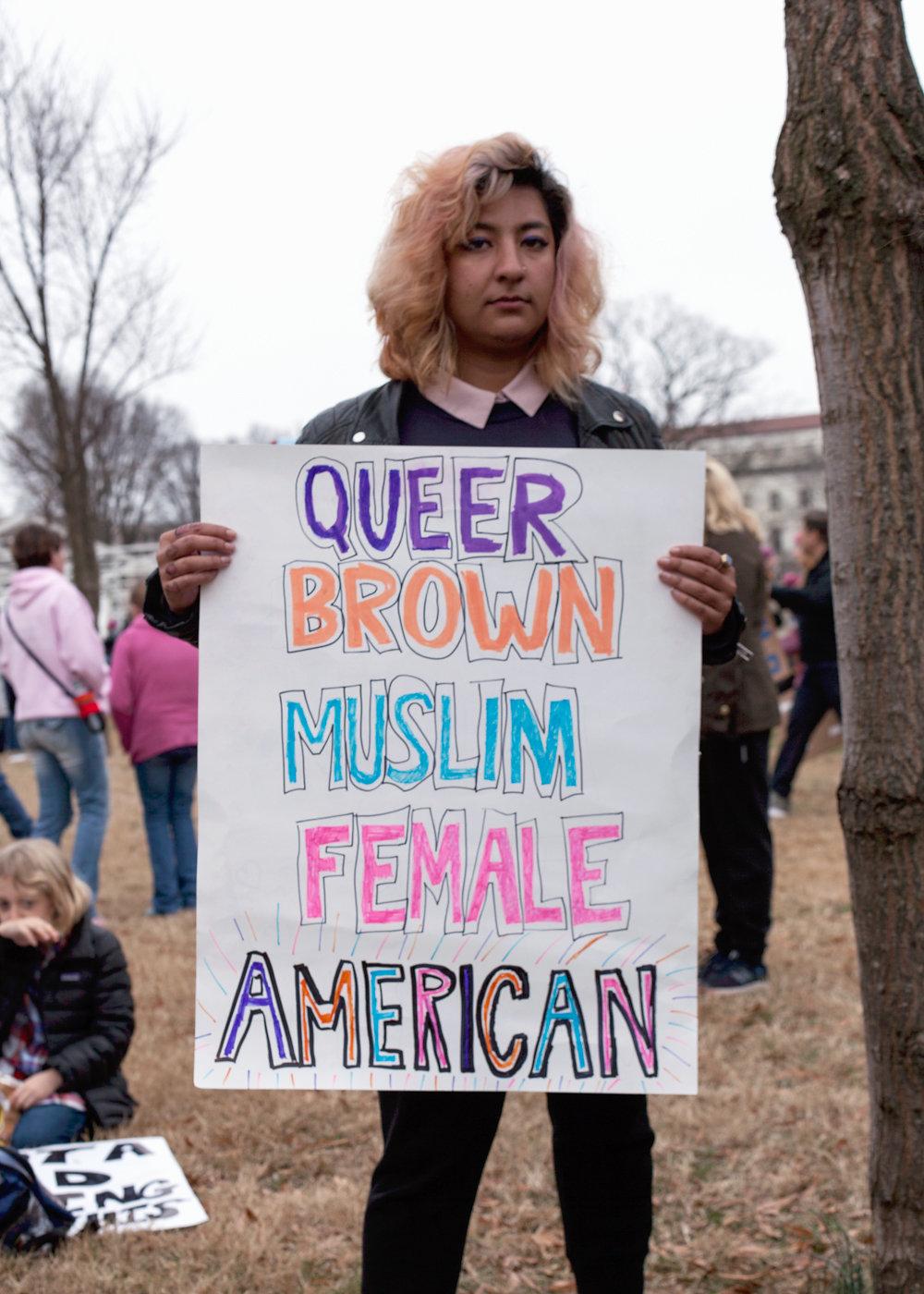 Women's March on Washington Zig Metzler - Queer Brown Muslim Female American