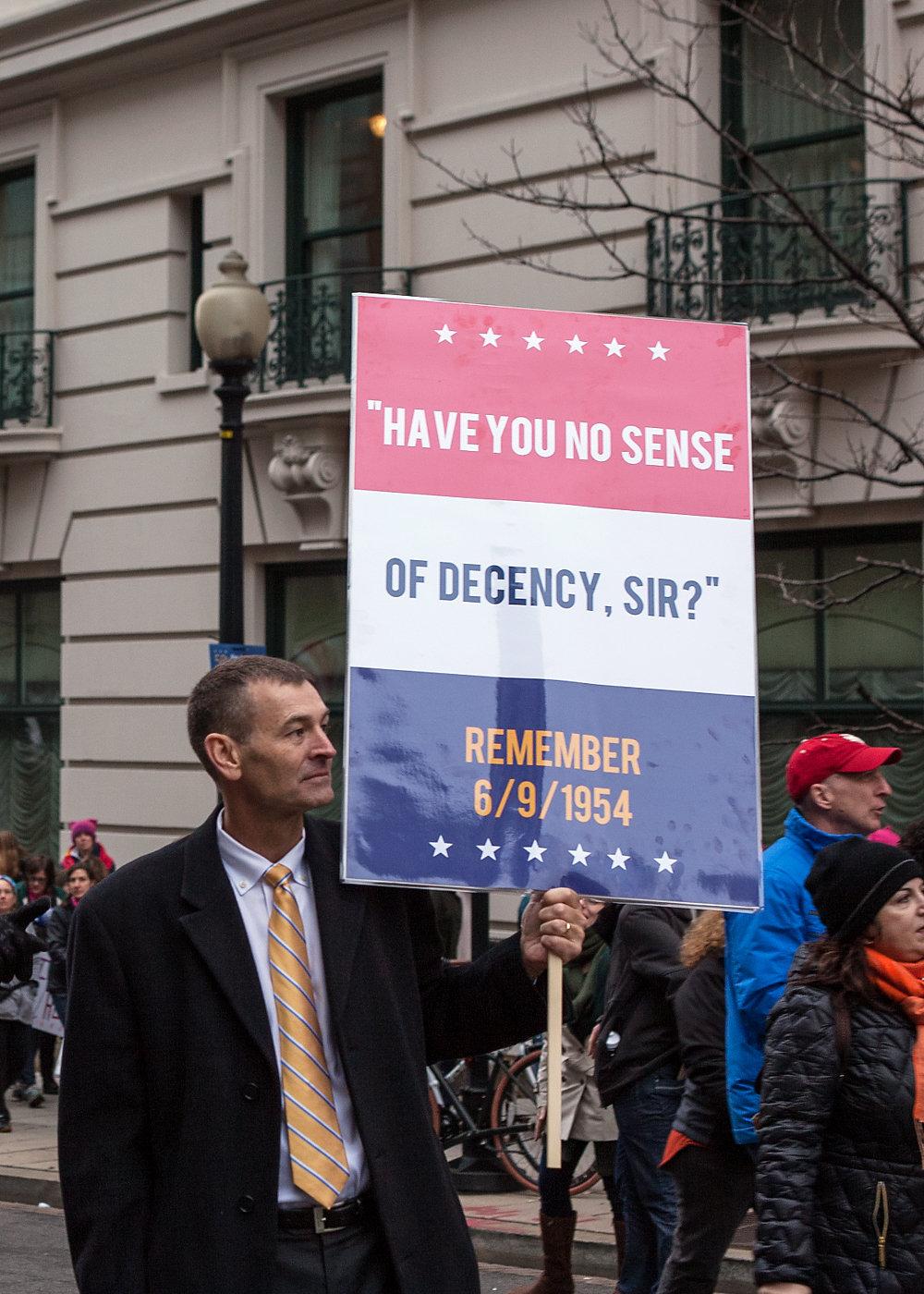 Have you no sense of decency, sir? Remember 6/9/1954 -Women's March on Washington Zig Metzler