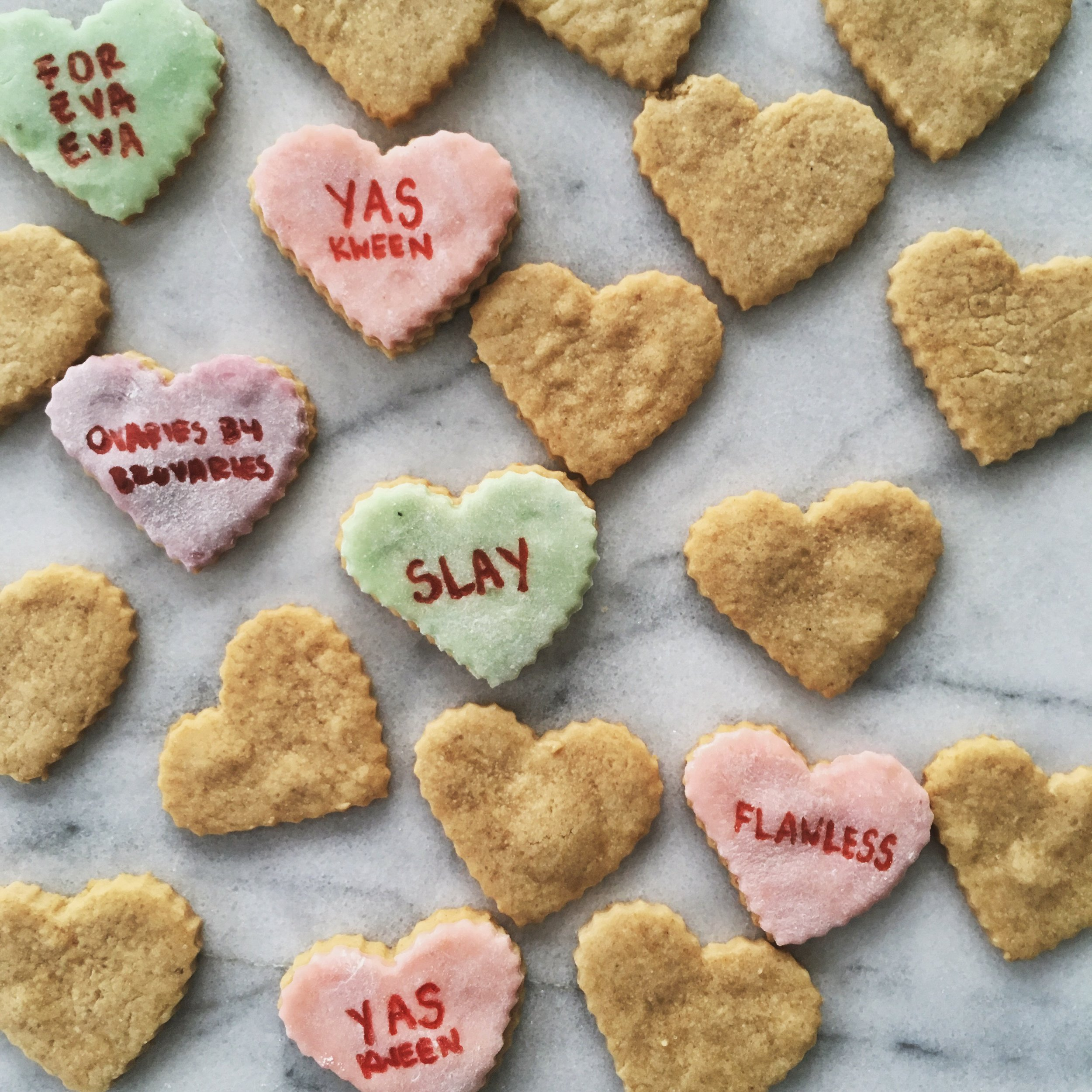 Conversation Heart Cookies Charlottesville by Virginia Baker Arley Cakes by Arley Arrington