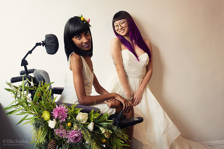 Bay Area Creatives Out of the Box Wedding Styled Shoot with Floral Wheelchair
