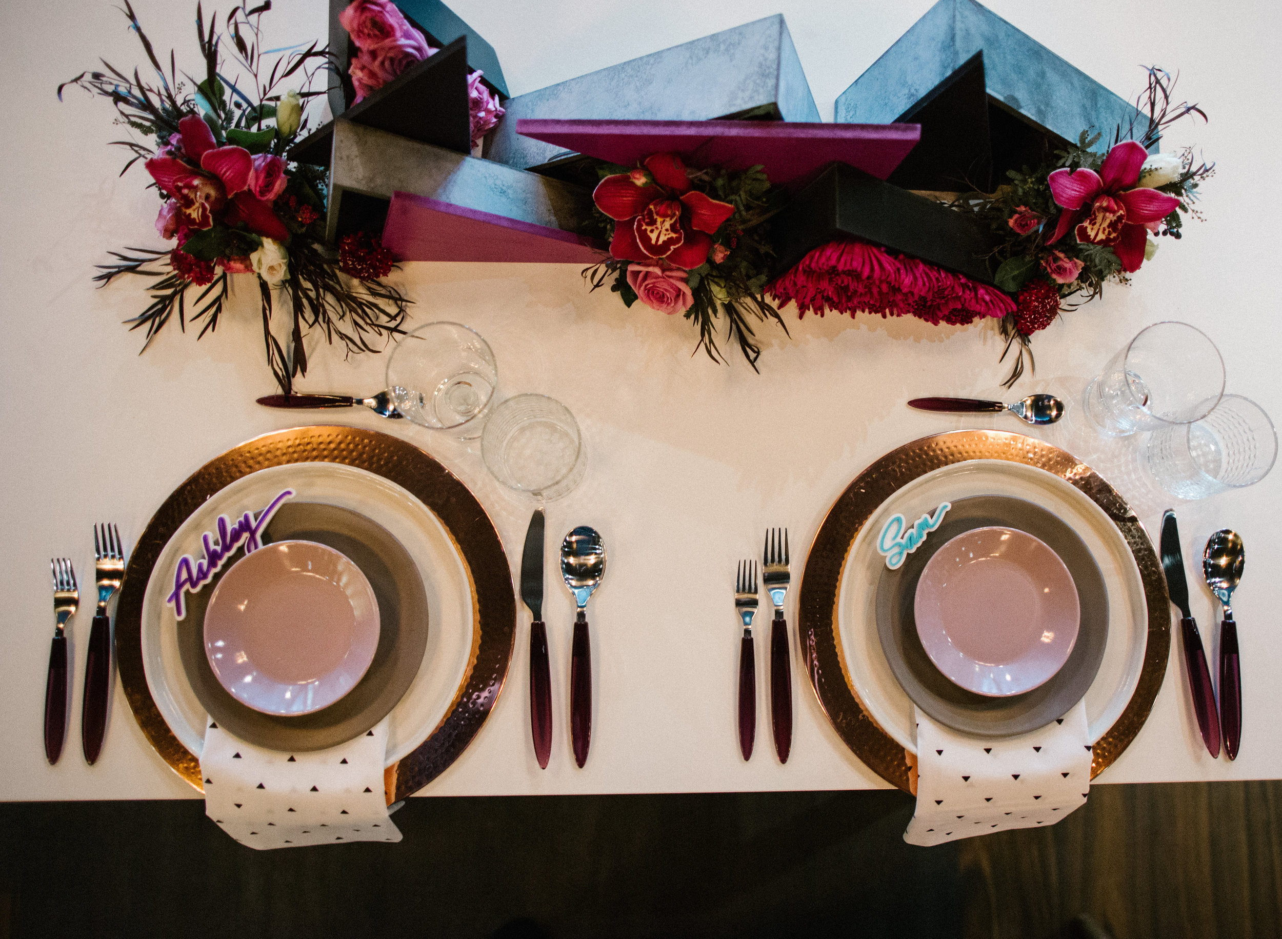 80s Geometric Classy Wedding Elopement Inspiration by Ashley Gaffney Studio and Our Two Hearts Photography in Denver Colorado