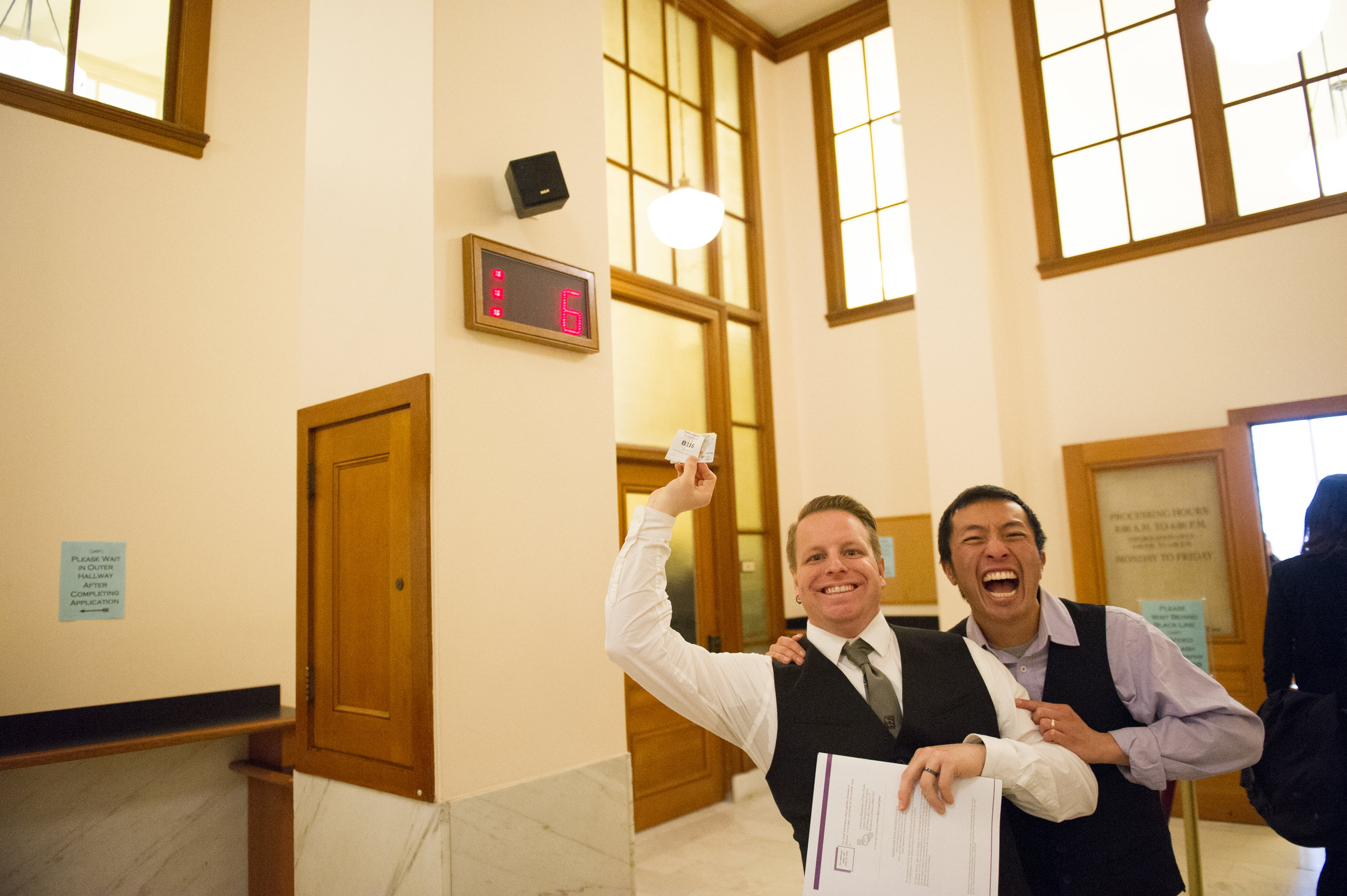 LGBTQ wedding elopement at the San Francisco City Hall benefitting the Trevor Project and photographed by Chloe Jackman Photography
