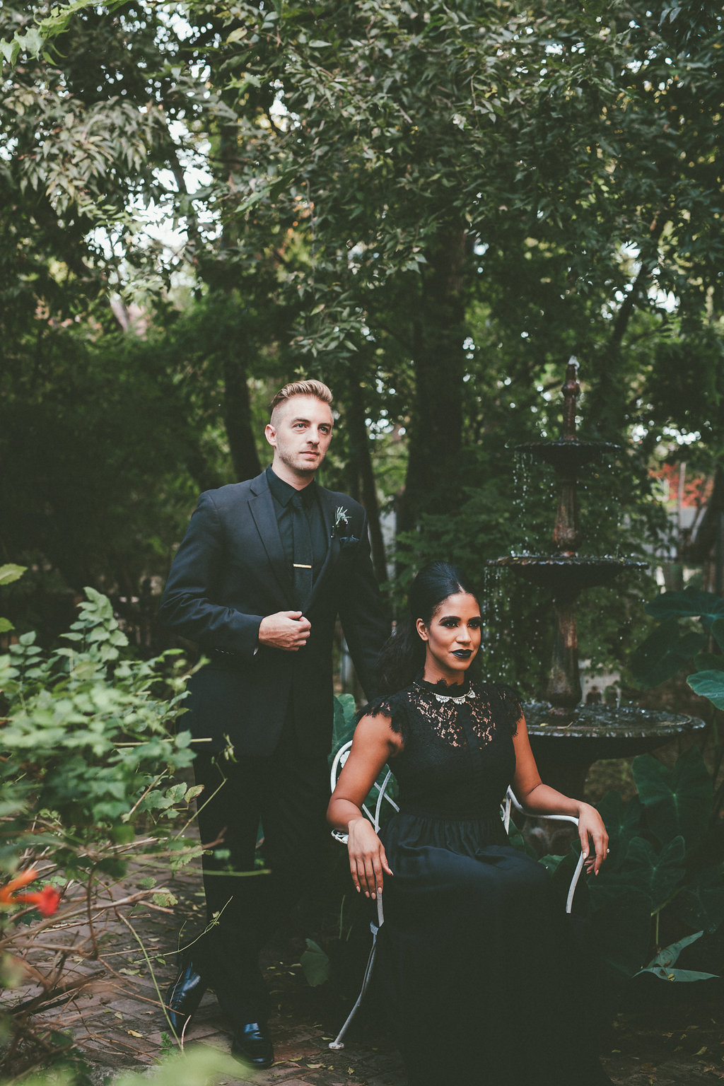 Diana Ascarrunz & Shaun Delgado-Harris Moody New Orleans Witchy Shoot