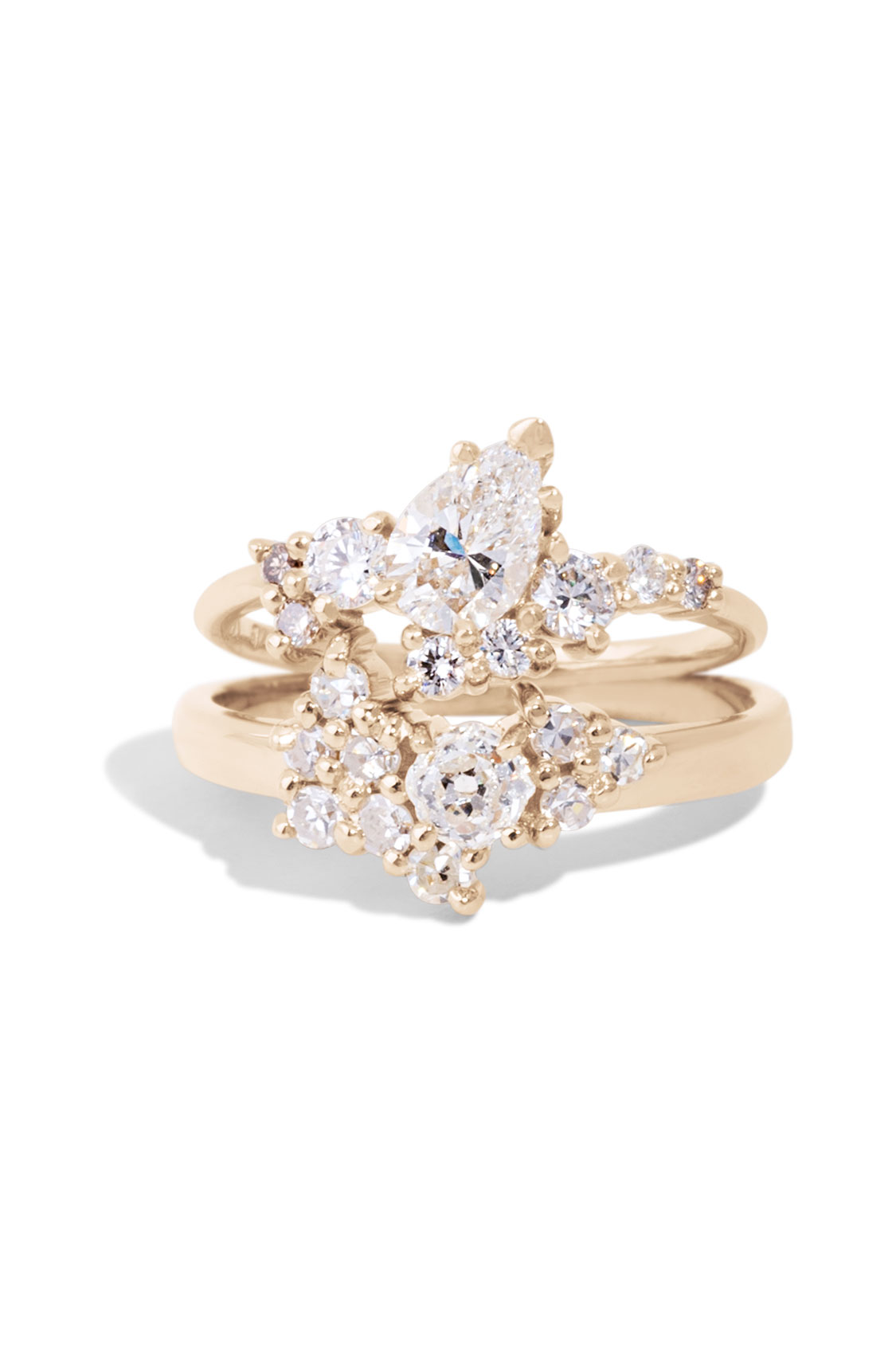 Diamond Cluster Ring and band