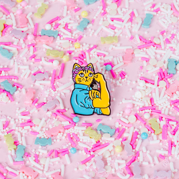 Feminist Enamel Pins, Patches, and Stickers by British, woman-owned company Punky Pins
