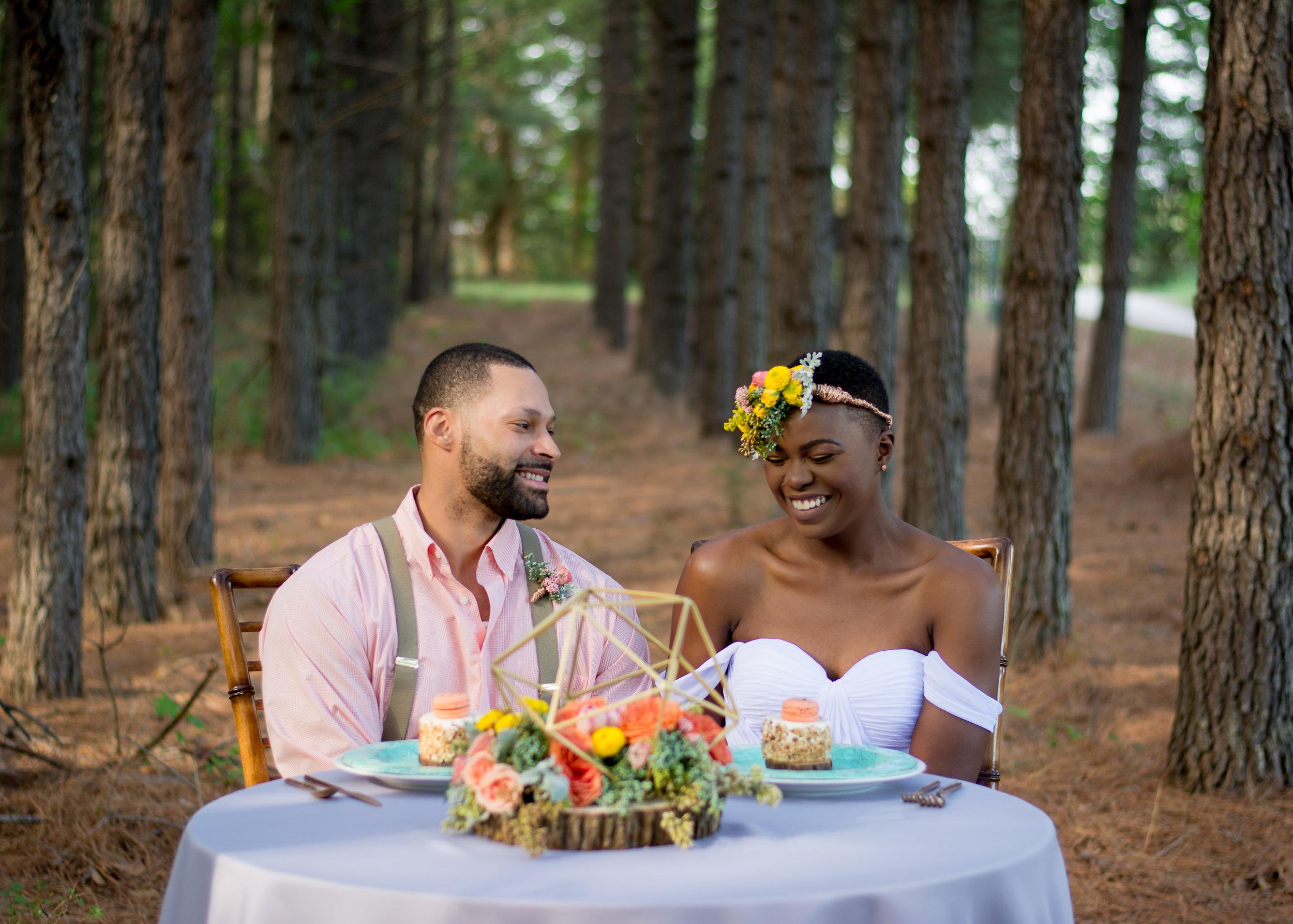 Denise Benson Photography and Vivid Detail Event Design Bohemian Woodland Wedding