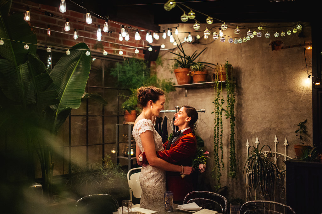 Foodie DC Lesbian Wedding by A Lovely Photo