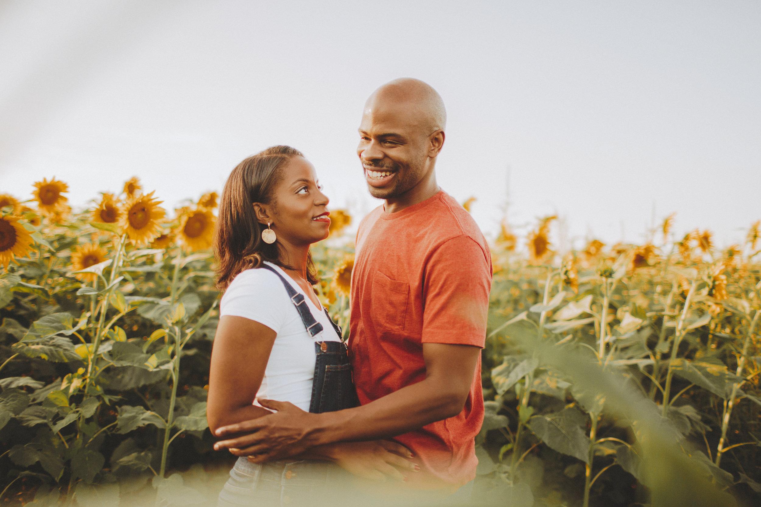Nessa K sunflower engagement