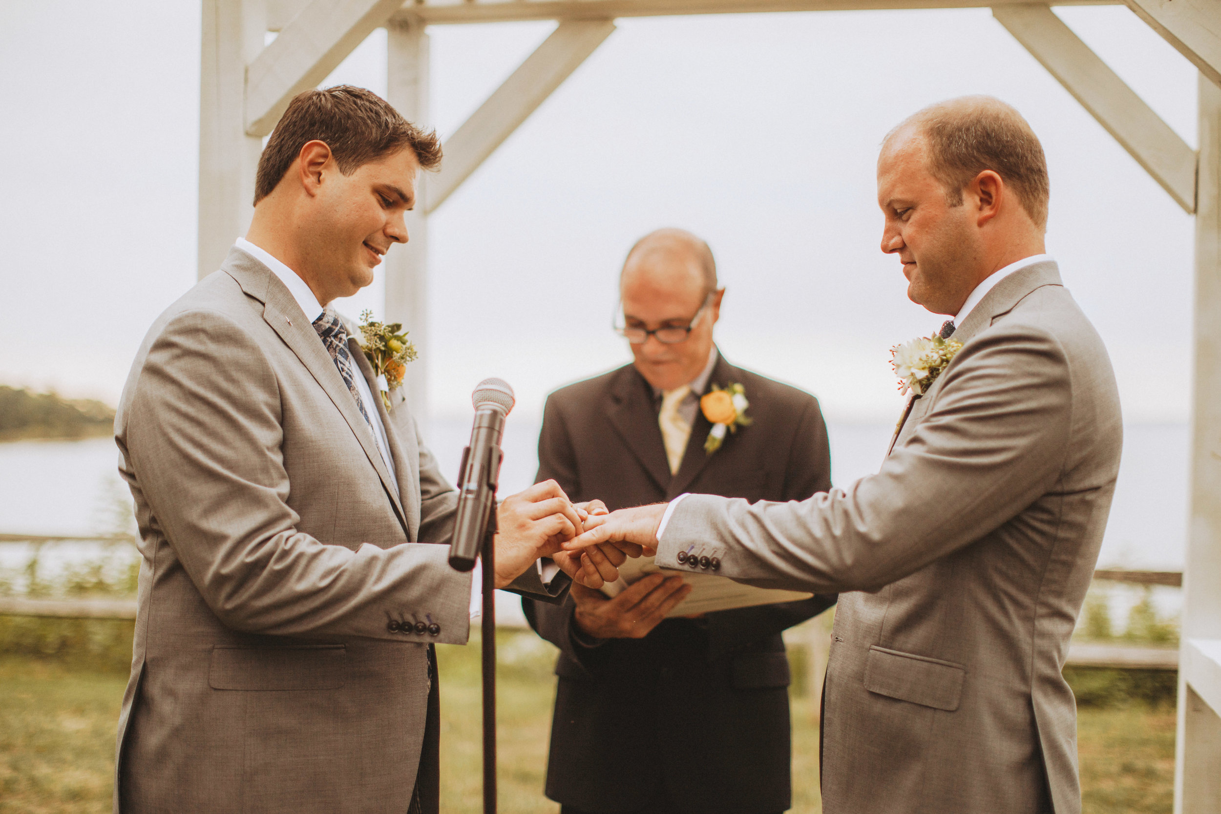 ring exchange during wedding ceremony