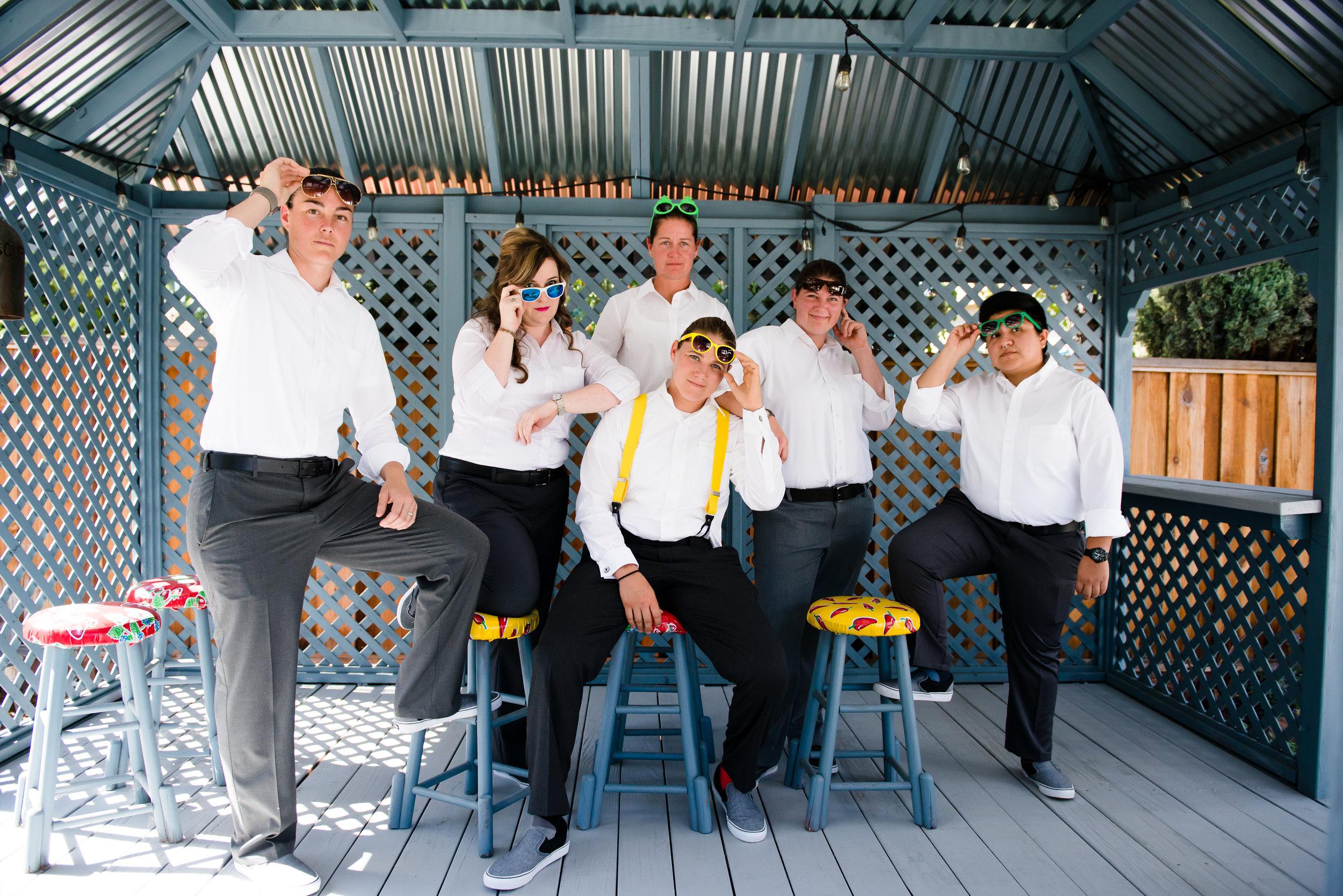 Chloe Jackman yellow firefighter wedding