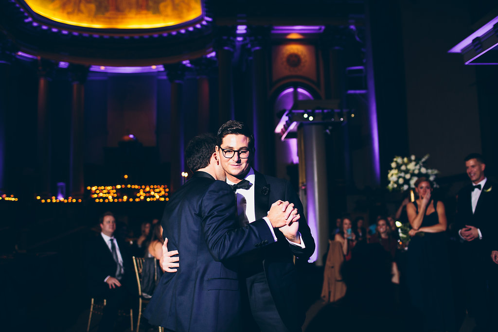 First married dance for two grooms.