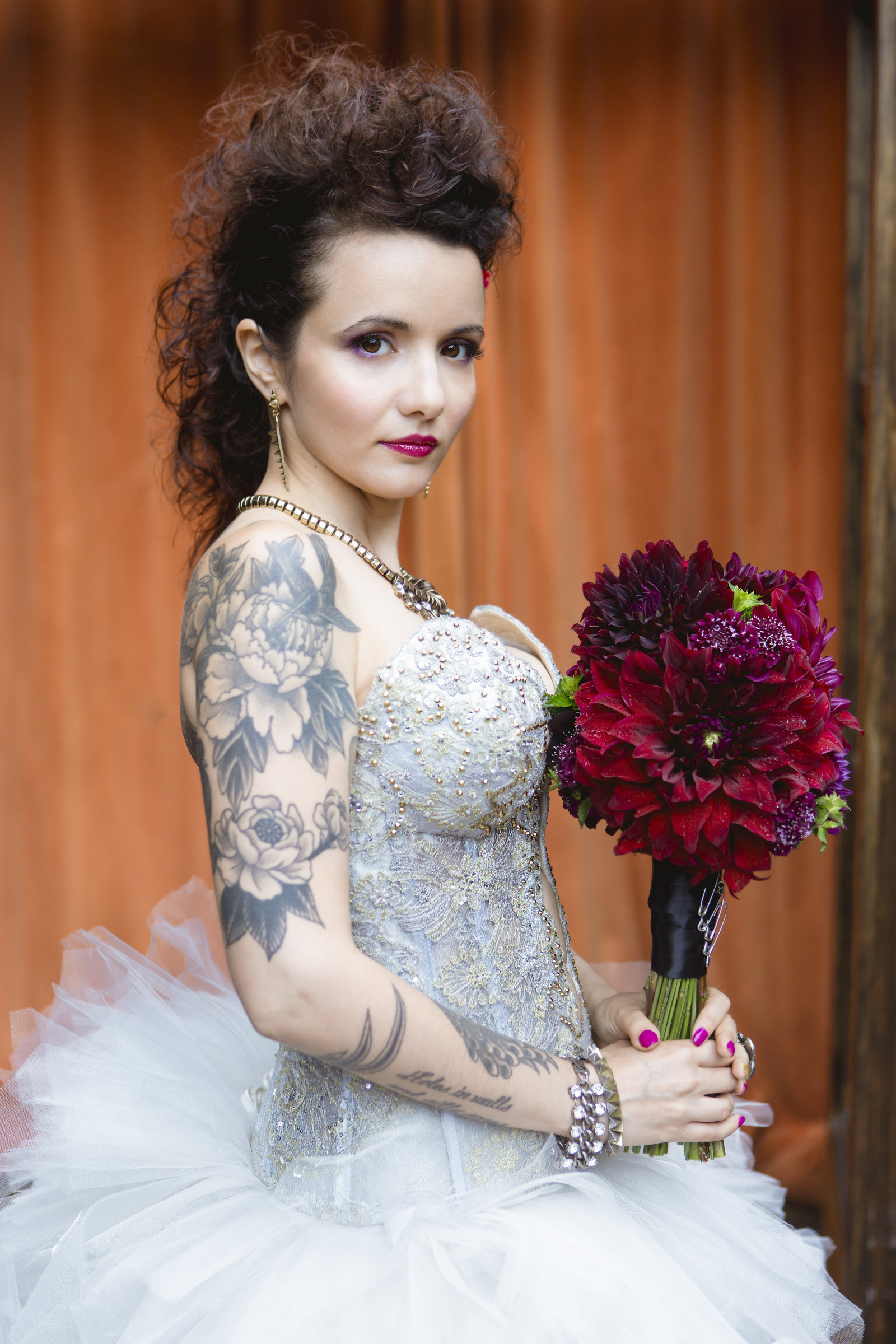 Bridal portrait by Amy Sims