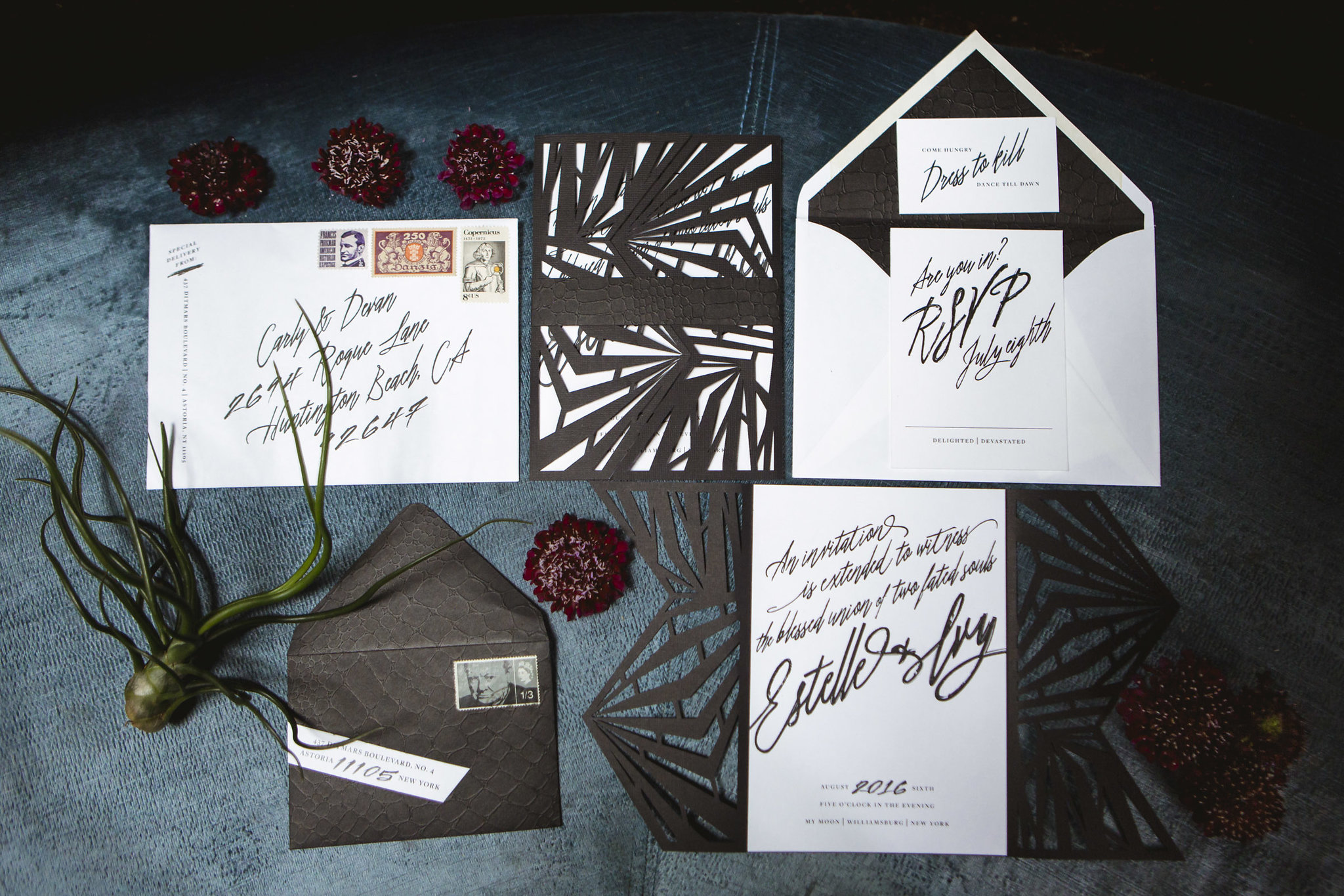 wedding invitations by Coral Pheasant in Brooklyn