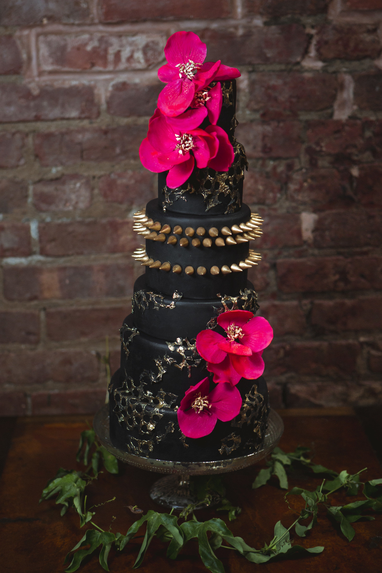 Rock star wedding cake from Lael Cakes