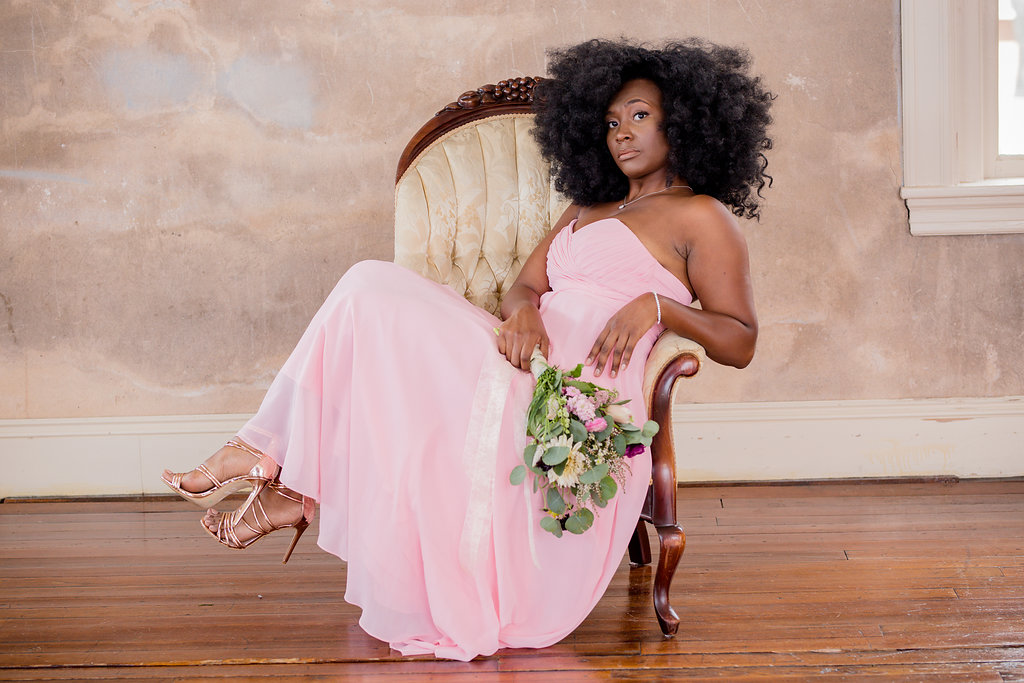 Black Girl Magic afro chic shoot photographed by Hope Ballenger