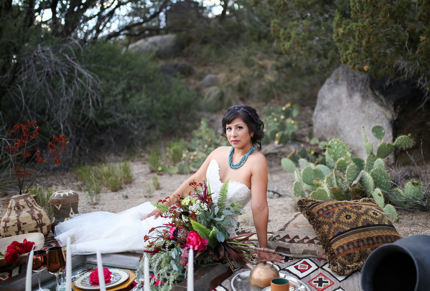Native American Navajo Self Love Wedding Inspiration Shoot in New Mexico by Jamie Jauriqui Photography