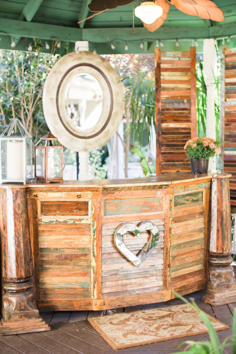 wooden wedding bar