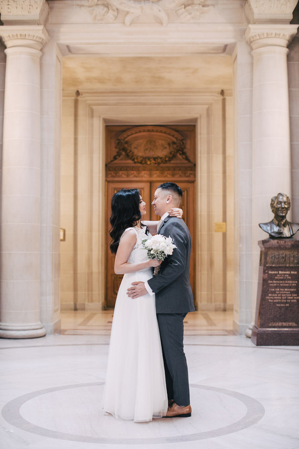 San Francisco city hall Simple Intimate elopement by IQphoto