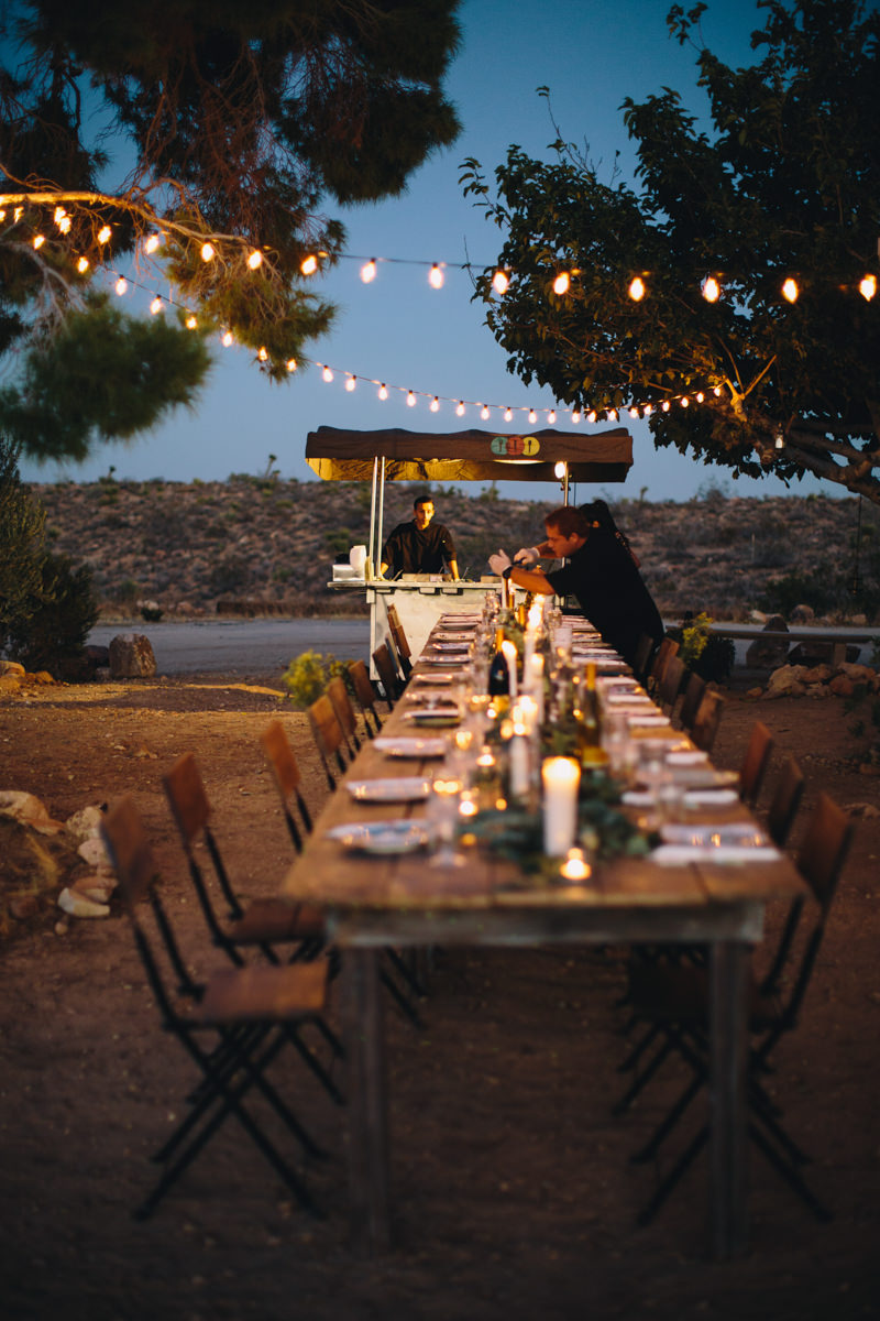 Cafe lights for outdoor desert wedding