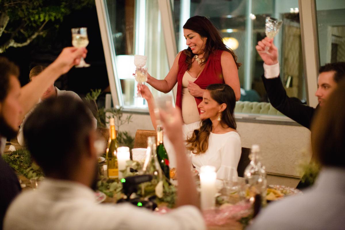 Intimate wedding toasts