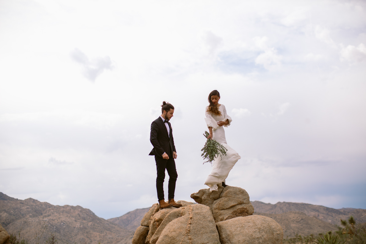 Epic Joshua Tree wedding photos