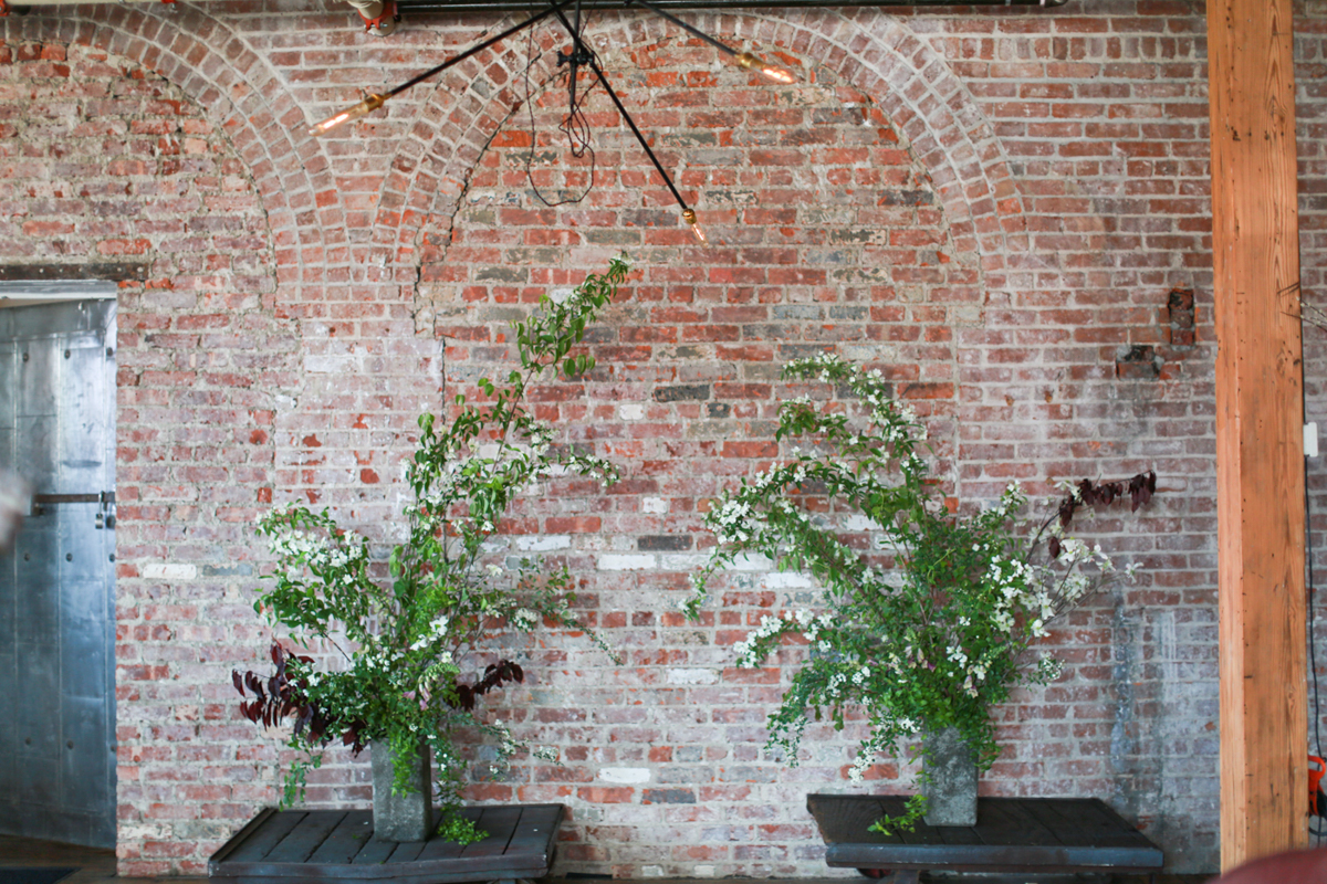 Floral Ceremony Backdrop by Hawk & Hare