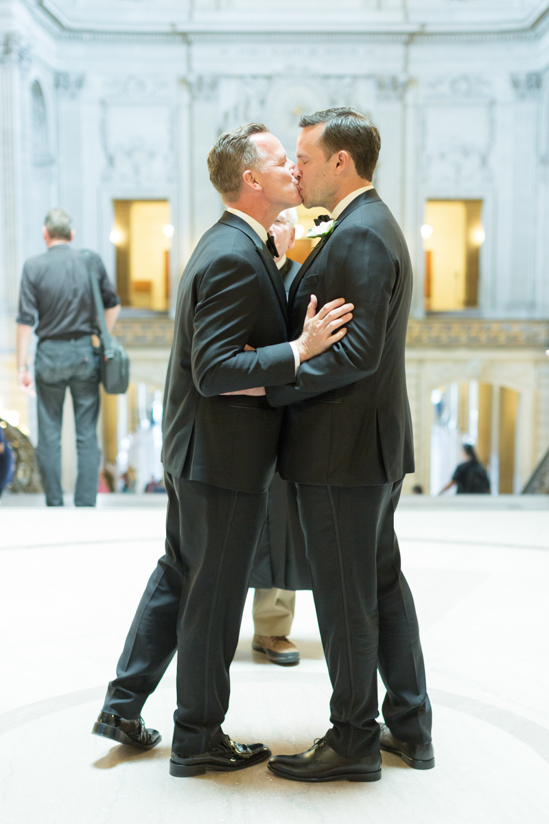 two grooms getting married at City Hall