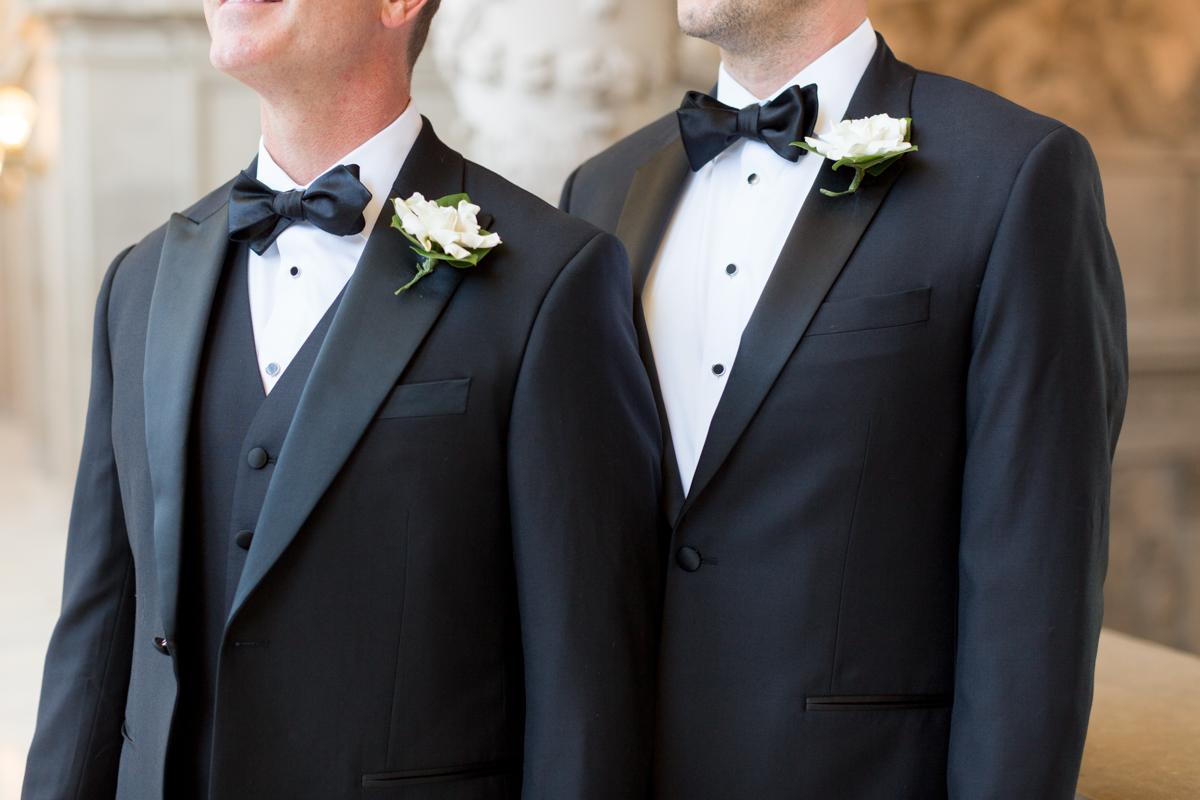 gay wedding classic style