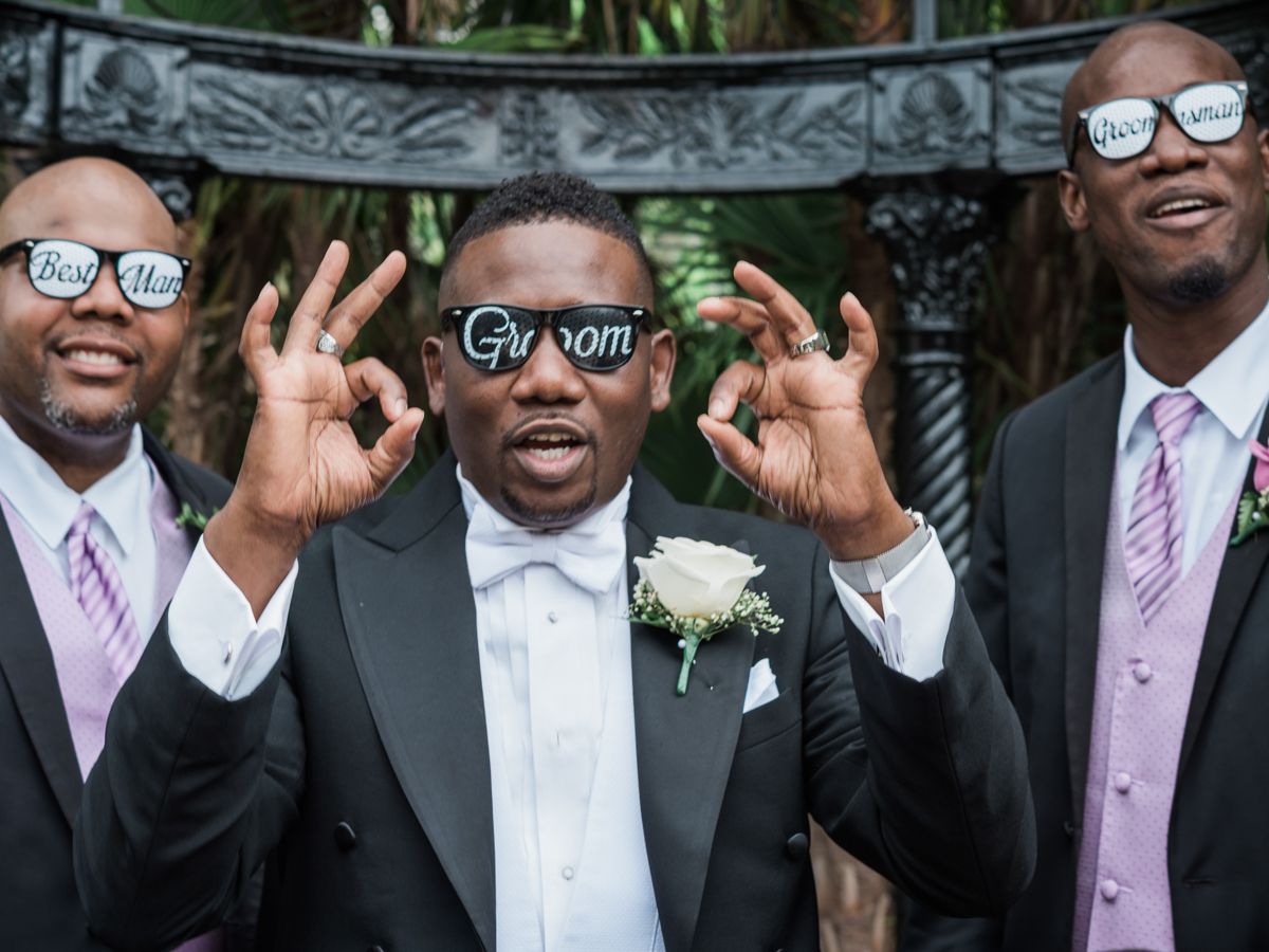 Groom in groom glasses