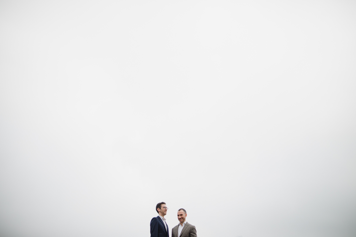 Couple in the fog of Hong Kong