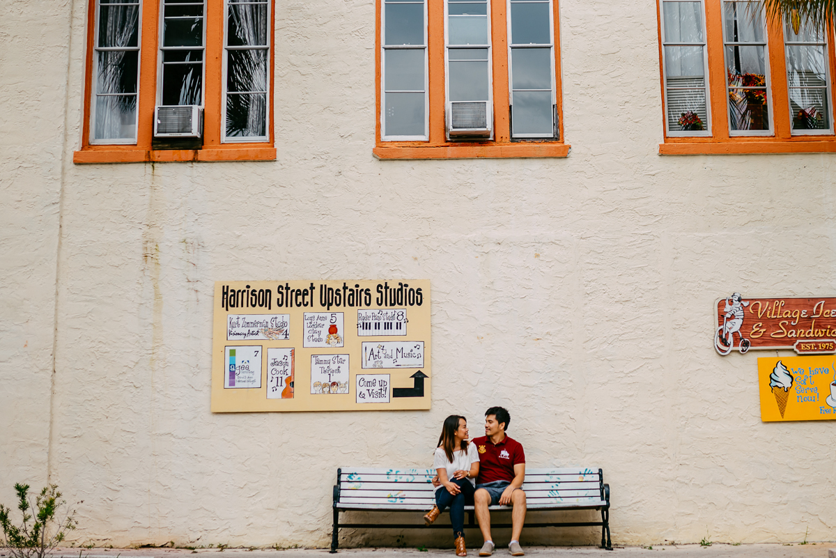 Quirky colorful Orlando engagement photos