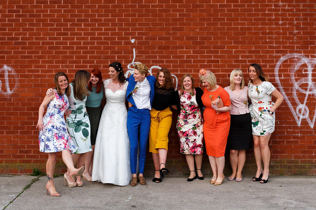 wedding day group photos in Liverpool