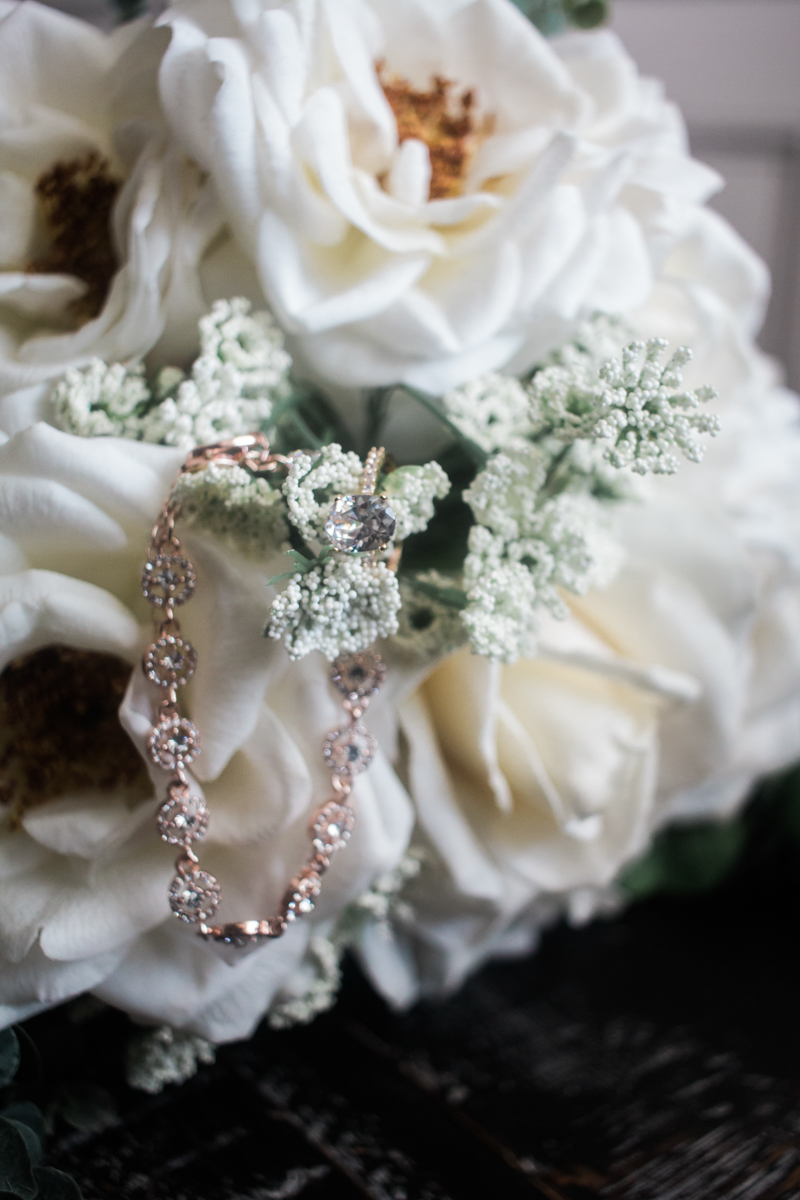floral and ring detail