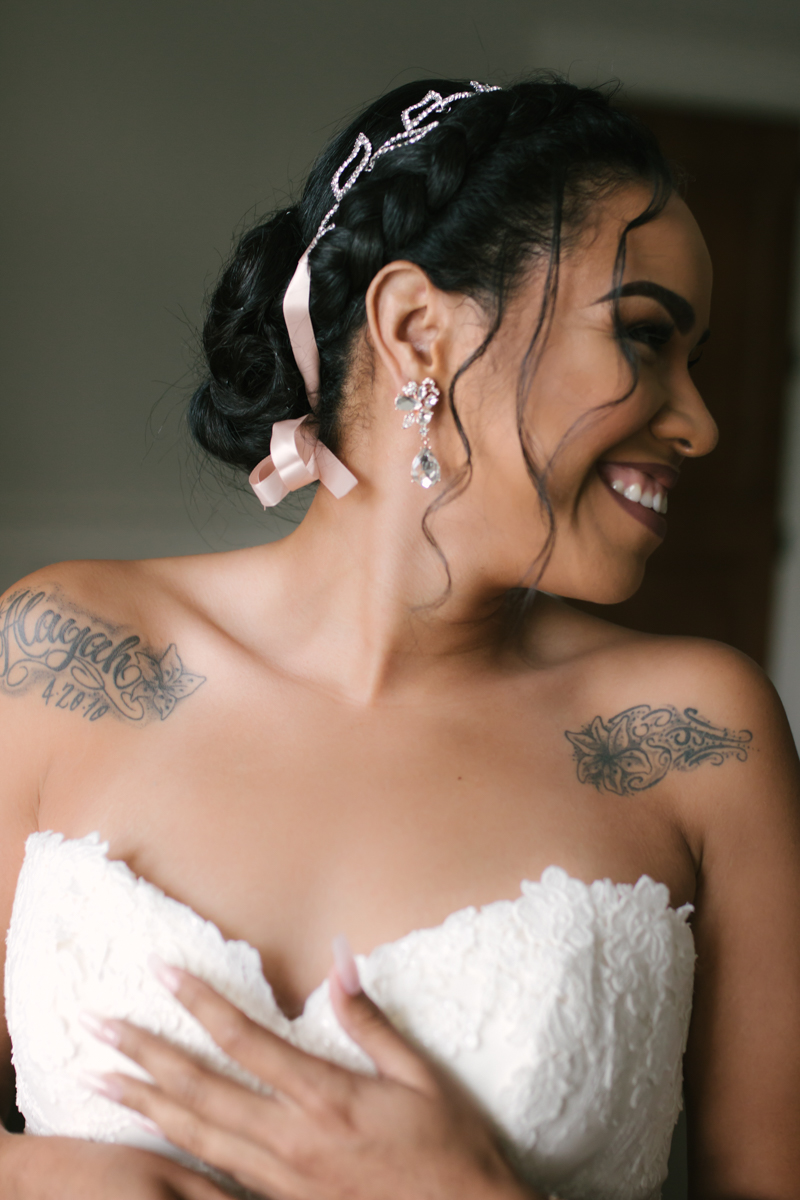 Beautiful bride with tattoos